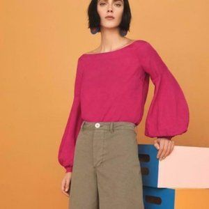 Anthro Floreat Mazza pink off the shoulder top
